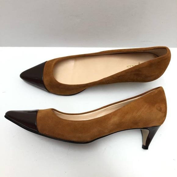 Cole Haan Shoes - Cole Haan Brown Kitten Heels Size 9B